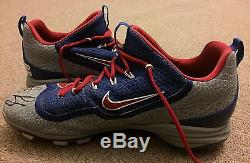 Anthony Rizzo MLB Holo Game Used Autographed Cleats 2016 Chicago Cubs WS SEASON