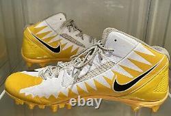 Antonio Brown Game Used Custom Ab Nike Promo 2017 Steelers NFL Cleats Game Worn