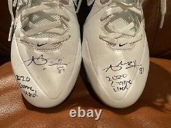 Antonio Brown Tb Auto Game Used Custom Ab Nike Cleats Signed Coa Photo Proof