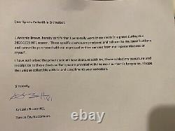 Antonio Brown Tb Auto Game Used Custom Td Ab Nike Cleats Signed Coa Photo Proof