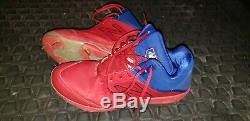 Arron Nola Philadelphia Phillies Game Used Cleats Mlb Number Sewn In