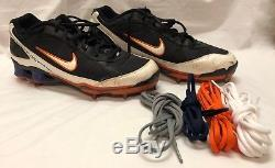 Authentic Mlb Certified Game-used Ny Mets David Wright Nike Cleats 08/11/08