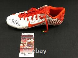 BOBBY McCAIN MIAMI DOLPHINS SIGNED GAME USED CLEAT JSA COA WPP137652