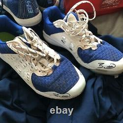 Bobby witt jr signed game used cleats