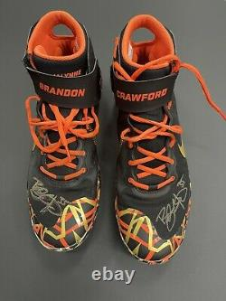 Brandon Crawford game used autographed cleats 2021 JSA Authentication