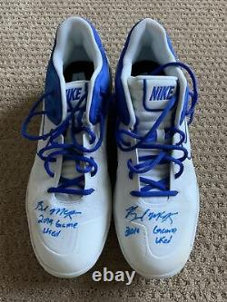 Brendan McKay 2019 GAME USED CLEATS pair autograph SIGNED Rays worn
