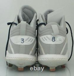 Brewers DEVIN WILLIAMS Signed Adidas GAME USED WORN CleatsAUTO with 2020 ROY JSA