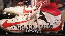 Buffalo Bills Josh Allen My Cause, My Cleats game used cleats, LLS fundraiser