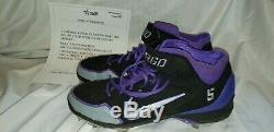 CARLOS GONZALEZ ROCKIES GAME USED CLEATS Cargo #5 on cleats MLB ALL STAR RARE