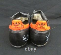 Cal Ripken Jr Orioles Signed Pair of Worn Heavy Use Cleats. GAME USED. 127316