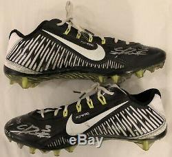 Calvin Ridley Authentic Signed Game Used 2015 Cotton Bowl Cleats Alabama JSA LOA