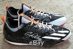 Carlos Correa 2016 GU Game Used & Autographed Signed Adidas Cleats Fanatics COA