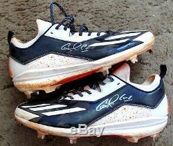 Carlos Correa 2017 Game Used & Autographed Adidas Cleats Fanatics COA Astros