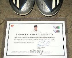 Carlos Correa 2017 Game Used Autographed Signed Adidas Baseball Cleats Fanatics