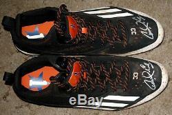 Carlos Correa Game Used & Autographed Adidas Cleats 2016 Astros Fanatics COA GU