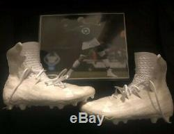 Carolina Panthers Cam Newton Pre Game Used Worn Cleats Photo Matched