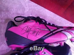 Chad Ochocinco Bengals Game Used Autoed Bca Pink Cleats Jsa, NFL Loa, Grey