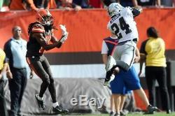 Charles Woodson Game Used Cleats Oakland Raiders 2015 Las Vegas U. Michigan HOF