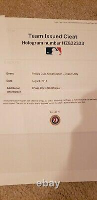 Chase Utley Game Used Issued Cleats Phillies Dodgers Last Game MLB authenticated