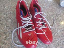 Chase Utley Philadelphia Phillies Team Issued/Game Used Cleats MLB Authenticated