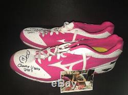 Chris Sale Boston Red Sox Signed 2017 Game Used Mother's Day Cleats MLB Holo