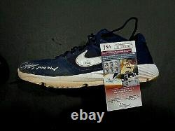 Christian Vazquez Boston Red Sox Game Used Autographed Cleats COA JSA 1