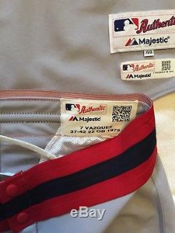 Christian Vazquez Game Used Worn Full Uniform Jersey Cleats Red Sox Autograph