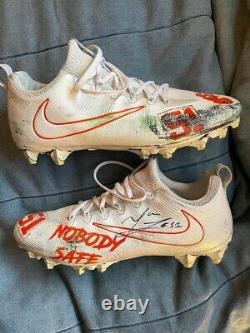 Cleveland browns game used Mack Wilson Cleats Vs The 49ners