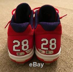Corey Kluber MLB Holo Game Used Cleats Complete Game Shutout Win 2018 Indians