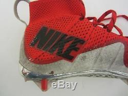 Corey Smith OSU Buckeyes NCAA signed game used football cleat / shoe CAS COA