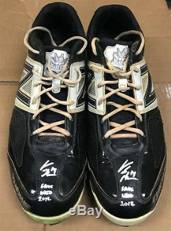 Curtis Granderson Signed Inscribed Game Used Baseball Cleats with Granderson LOA