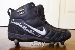 Curtis Martin HOF Signed GAME USED Cleat New York Jets New England Patriots