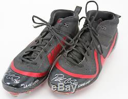 D-Backs Patrick Corbin Game Used Signed Black/Red Nike Zoom Trout 4 Cleats BAS