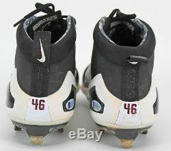 D-Backs Patrick Corbin Game Used Signed Black/White Nike Zoom Trout Cleats BAS