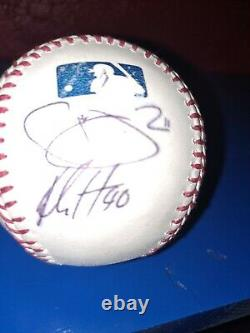 Danny Duffy L. A. Dodgers Royals Game Used Signed Cleats Lineup Card / Team Ball