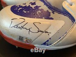 Dansby Swanson 2018 Game Used Cleats Autographed Atlanta Braves