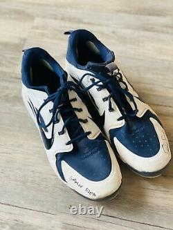 Dansby Swanson Autographed Game Used Cleats Atlanta Braves LOJO Cert