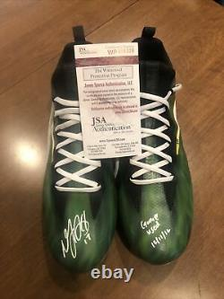 Davante Adams Signed Game Used Cleats