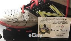 David Ortiz 2016 Final Season Autographed Game Used Worn Cleat Red Sox MLB Holo