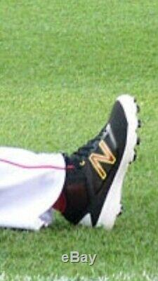David Ortiz Game Used Cleat Photo Matched 500th Red Sox Double June 3,4 2016