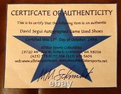 David Segui Game Used Cleats Shoes autographed with COA #21 Mariners O's Mets 11