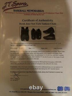 Derek Jeter 2001 Game Used Dual Signed Cleats New York Yankees Mlb Steiner
