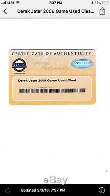 Derek Jeter GAME USED CAPTAIN CLUTCH Cleat 2009 WORLD SERIES YEAR STEINER COA