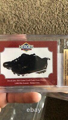 Derek Jeter Game Used Baseball Cleats (Pair) Steiner COA, 2011 3000 Hit Season