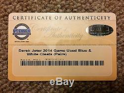 Derek Jeter Steiner Sports Game Used Cleats 2014 New York Yankees