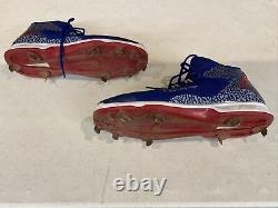 Dexter Fowler Chicago Cubs Game Used Worn Signed Nike Cleats Shoes Lojo Holo