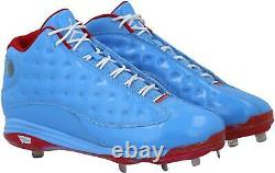 Dexter Fowler St. Louis Cardinals Signed GU Blue Cleats & Game Used 2019 Insc