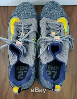 Dodgers Padres MATT KEMP game used worn Nike custom cleats COA