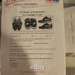 Don Mattingly Game Used Cleats NY Yankees COA From Mattingly Last Season 1995
