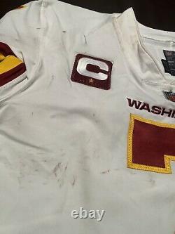 Dwayne Haskins Auto Game Used Jersey + Jordan Cleats Set Signed Coa Photo